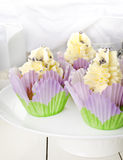 Lavender Petal Low Fat Orange Muffins. Royalty Free Stock Photos