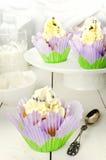 Lavender Petal Low Fat Orange Muffins. Royalty Free Stock Photos
