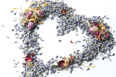 Lavender Potpourri Heart Stock Photos