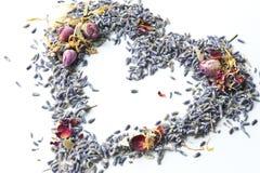 Lavender Potpourri Heart stock photos