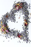 Lavender Potpourri Heart royalty free stock image