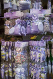 Lavender products in French souvenir shop Royalty Free Stock Images