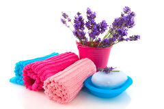 Lavender from the Provence in the bathroom Royalty Free Stock Photos