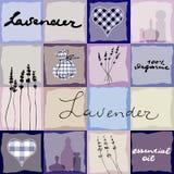 Lavender retro background Stock Photos
