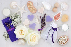 Lavender and Rose Spa Treatment Stock Images