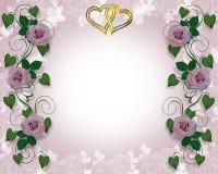 Lavender Rose Wedding Invitation Stock Image