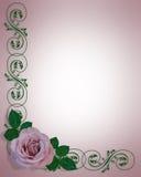 Lavender Rose Wedding Invitation Card Royalty Free Stock Photos
