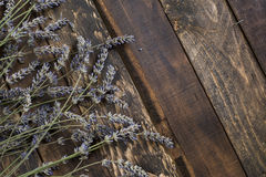 Lavender on rustic wooden background Royalty Free Stock Image