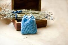 Lavender sachet. Handmade sachet for dry lavender Royalty Free Stock Photography