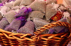 Lavender sachets Stock Photo