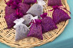 Lavender Sachets Royalty Free Stock Photography