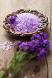 Lavender salt Royalty Free Stock Photography