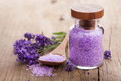 Lavender salt Stock Photo