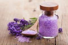 Lavender salt Stock Photo