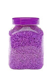 Lavender salt in jar Stock Photo