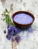 Lavender and salt Stock Photography