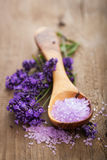 Lavender salt for spa Stock Image