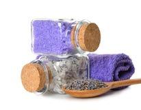 Lavender salt Royalty Free Stock Image