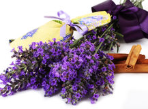 Lavender scented sachets Stock Photography