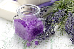 Lavender sea salt Stock Photography