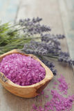 Lavender with sea salt Stock Photo