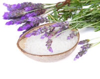 Lavender and sea salt Royalty Free Stock Photos