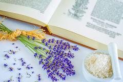 Lavender with sea salt Stock Image
