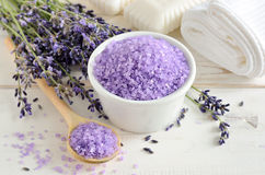 Lavender sea salt Royalty Free Stock Photo