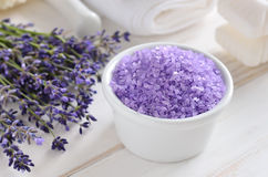 Lavender sea salt Royalty Free Stock Image
