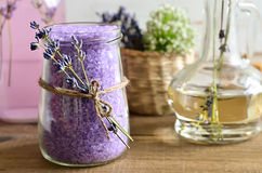 Lavender sea salt Stock Images