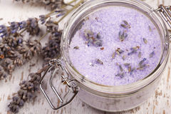 Lavender sea salt Stock Photo