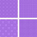 Lavender seamless pattern background set Stock Photography