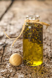 Lavender seeds macerated in olive oil Royalty Free Stock Photos