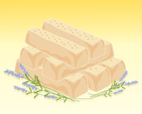 Lavender shortbread Royalty Free Stock Image