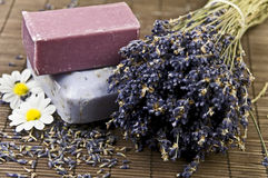 Lavender and Soap Royalty Free Stock Image