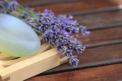 Lavender and soap Stock Photography