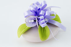 Lavender soap. On a white background Stock Photo