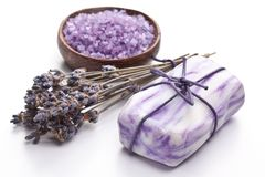 Lavender soap. Royalty Free Stock Image