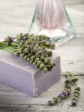 Lavender soap Stock Photography