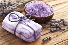 Lavender soap. Stock Photos