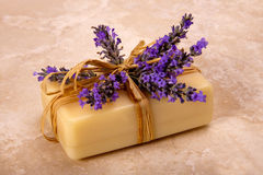 Lavender soap. Royalty Free Stock Photos