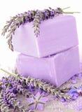 Lavender soap Royalty Free Stock Photos