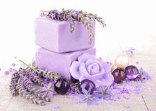 Lavender soap Stock Photos
