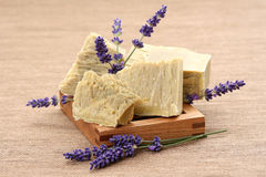 Lavender soap Stock Photos