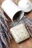 Lavender soap Stock Images