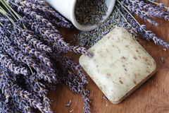 Lavender soap Royalty Free Stock Photography