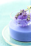 Lavender soap and bath salt Royalty Free Stock Images
