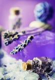 Lavender soap and bath salt Stock Photo