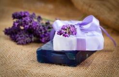 Lavender soap Stock Photo