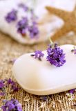 Lavender soap. And mediterranean decoration Stock Photography